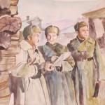 Дивизия командирі генерал-майор И.В. Панфилов полк командирімен ақылдасуда. Руководитель проекта Сулейменов Олжас