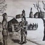 Бауыржан Момышұлы кызыл әскерге тапсырма беруде. Такенов Ерзат, 9  «А» сынып