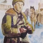 Дивизия командирі И.В. Панфилов барлау үстінде. Нуркамалова Дильназ, 8 «А» сынып